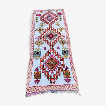 Carpet boucherouite 206 x 105 cm