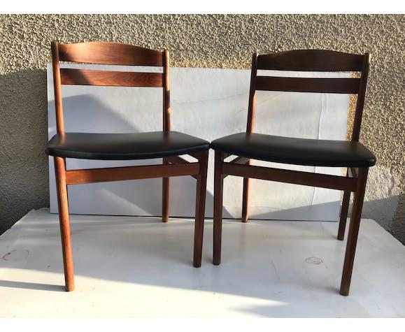 chaise ancienne bois skai
