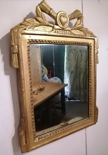 Miroir très ancien doré 36x48cm