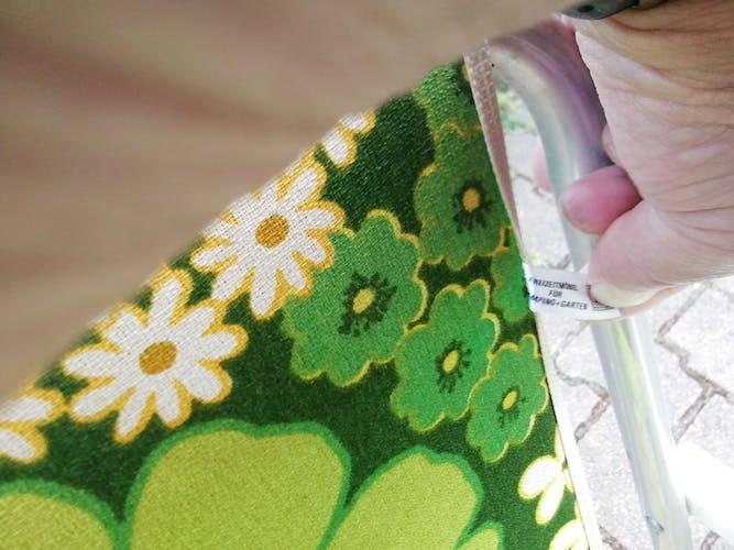 Fauteuil pliant vintage vert