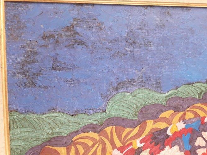 Huile sur toile signée des années 70