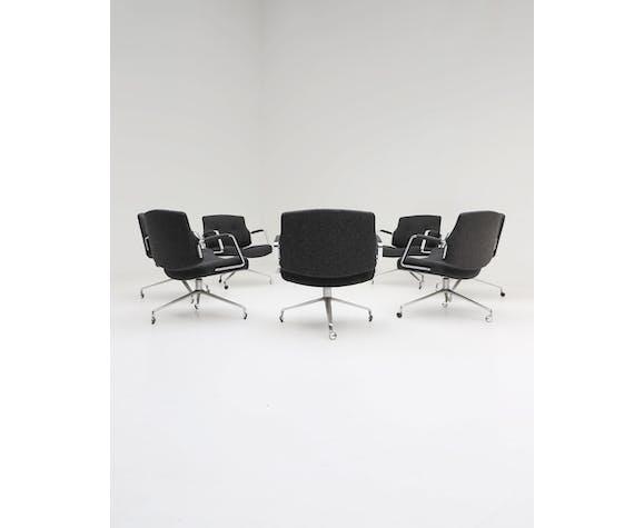 Ensemble de 9 fauteuils FK-84 conçus par Preben Fabricius et Jorgen Kastholm