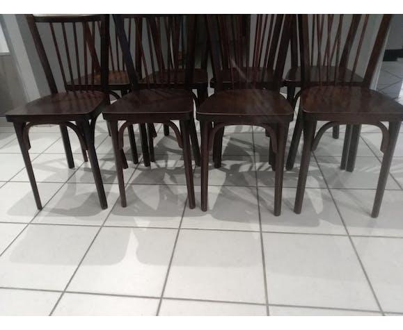 Suite de 8 chaises de Bistrot Baumann 1968
