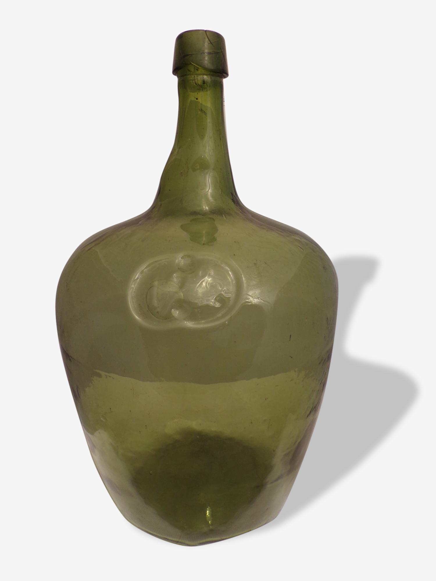 Dame Jeanne en verre vert 18 litres