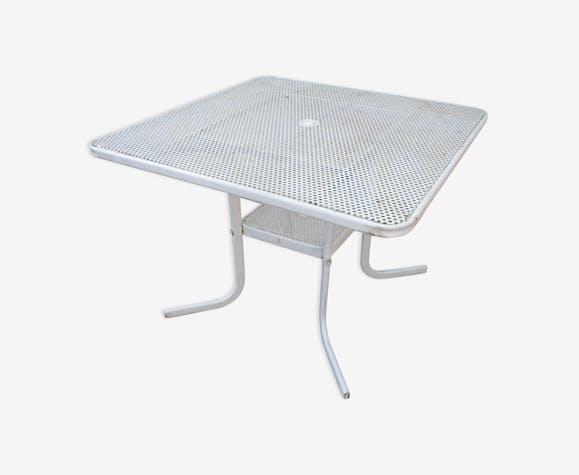 Rare table jardin Emu modèle Rio années 60 - métal - blanc - vintage ...