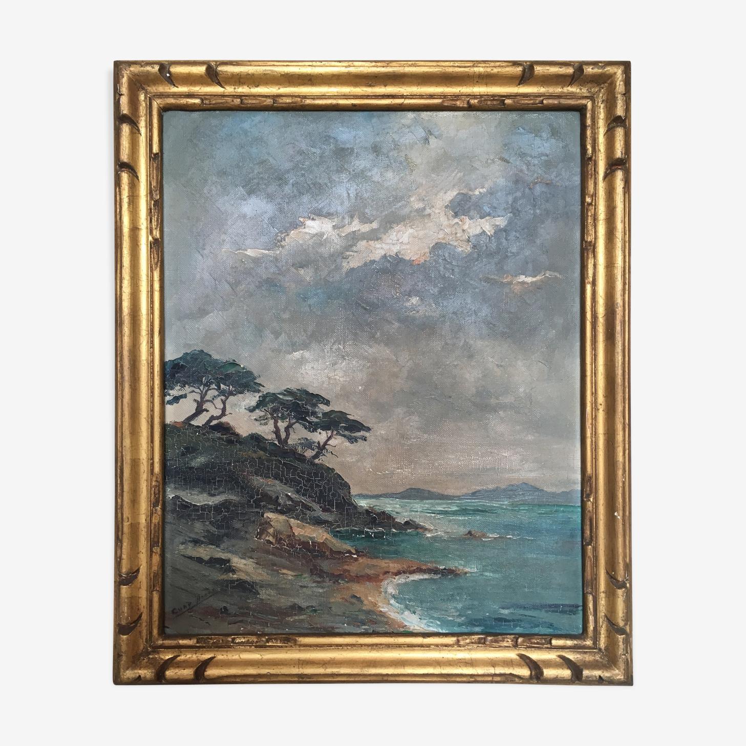 Paysage de bord de mer sur la Côte d'Azur