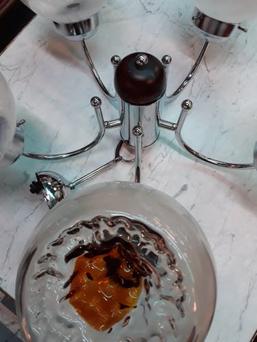 Lustre Mazzega Murano 5 feux