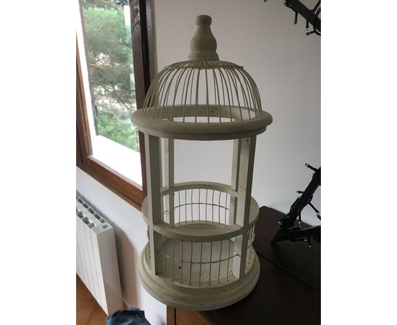 Cage à oiseaux décorative en bois