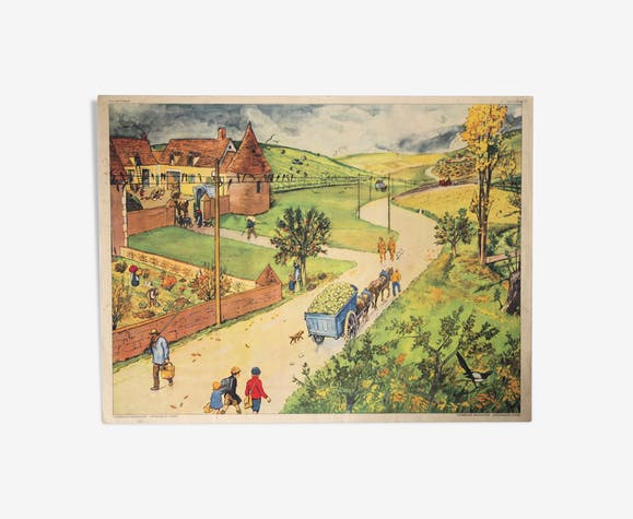 Rossignol school/farm pedagogical poster