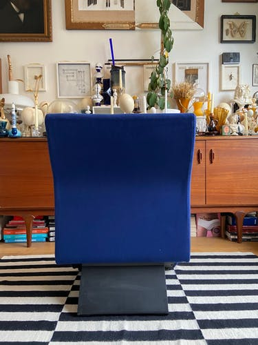 Chauffeuse en coton bleu par Albert Stoll pour Giroflex