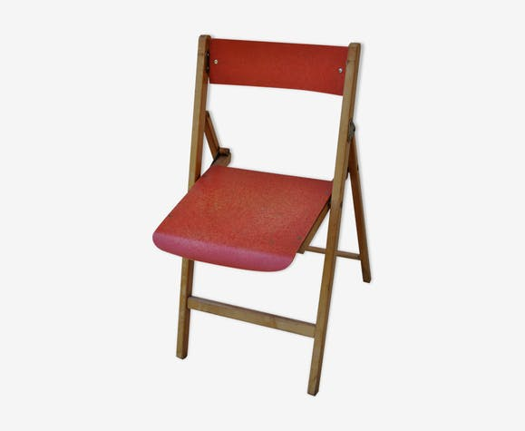 Chaise bois pliante fifties