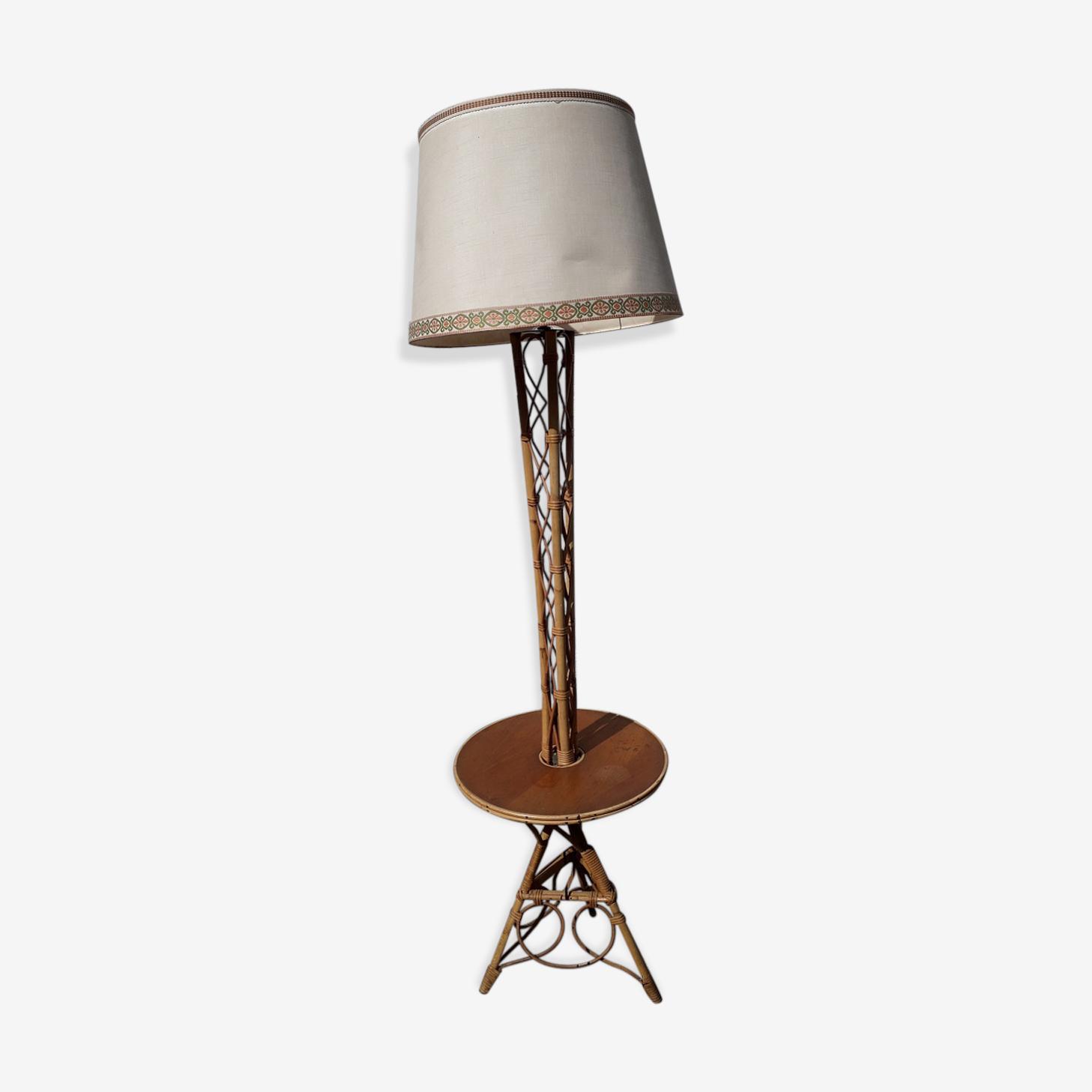 Rattan lamp years 60
