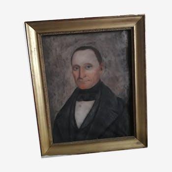 Tableau portrait  homme XIX ème