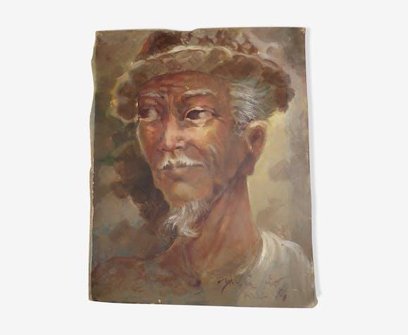 Portrait huile sur toile homme