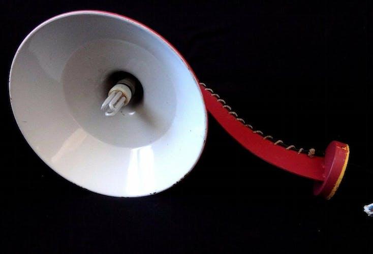 Applique rose design 70cm lampe bras design tole