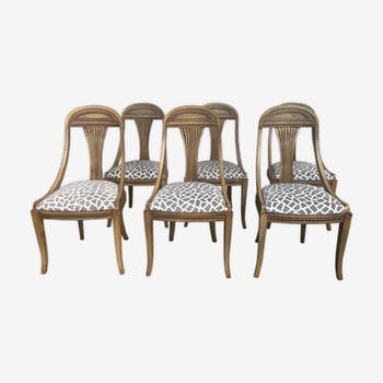 Lot de 6 chaises gondole