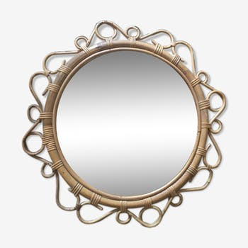 Miroir soleil des années 60/70 - 55x55cm