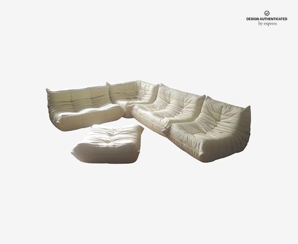 Togo Sofa Set In Leather By Michel Ducaroy For Ligne Roset