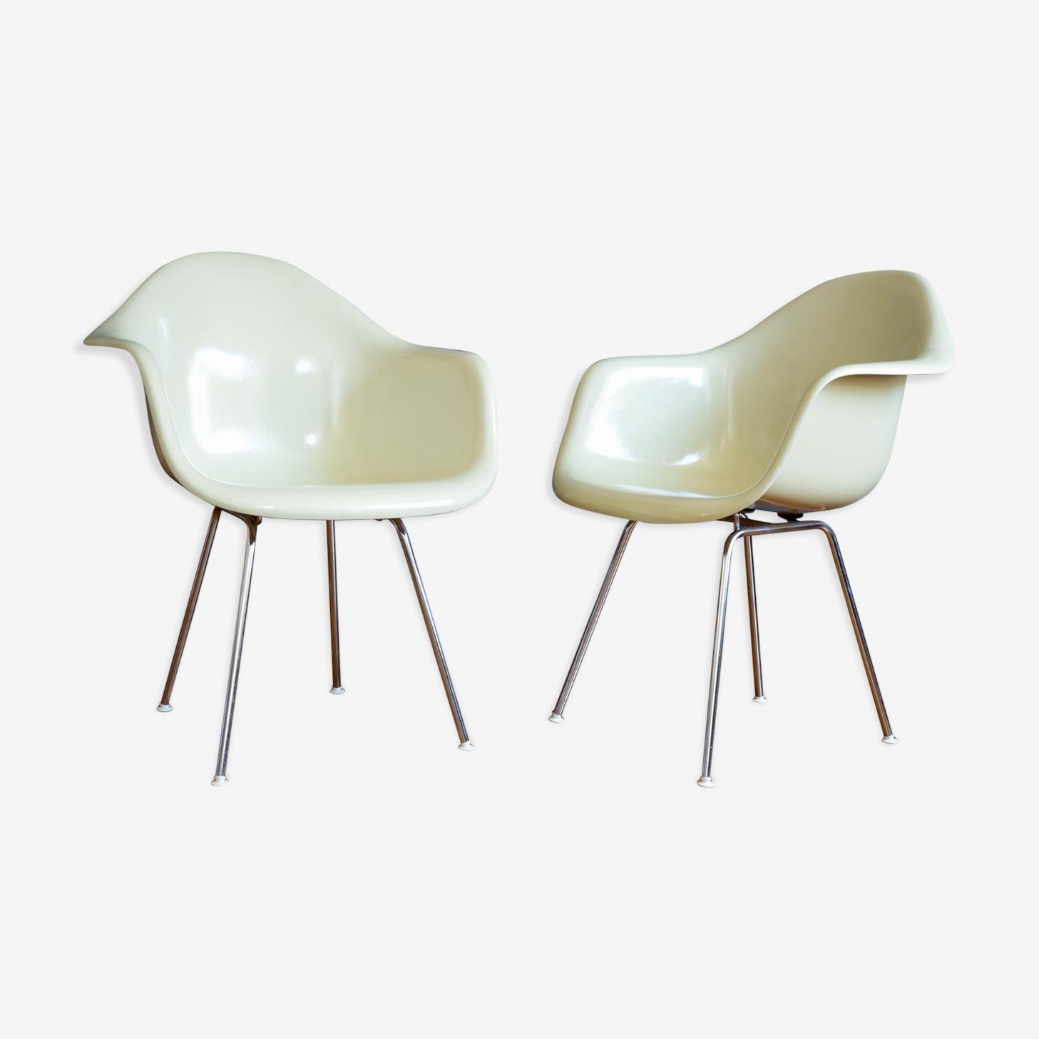 Paire de fauteuils DAX Charles et Ray Eames pour Herman Miller