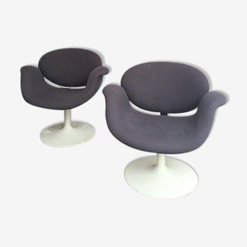 Pair of chairs Little Pierre Paulin Tulip