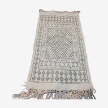 Tapis blanc marocain 105x60cm
