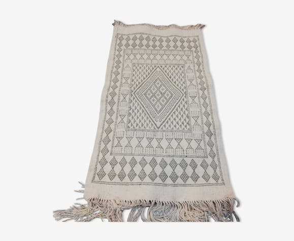 White carpet, carpet kilim carpet Moroccan 105x60cm