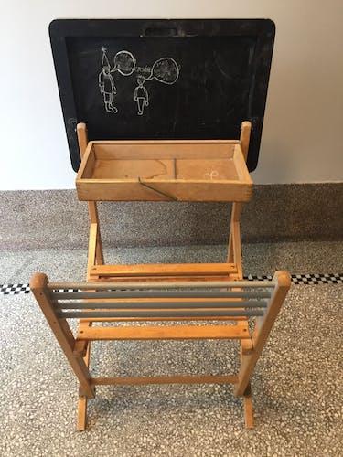 Vintage folding child office