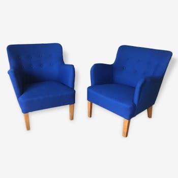 Paire de fauteuils Peter Hvidt