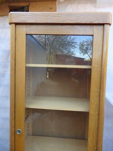 Meuble vitrine bibliothèque d école vintage