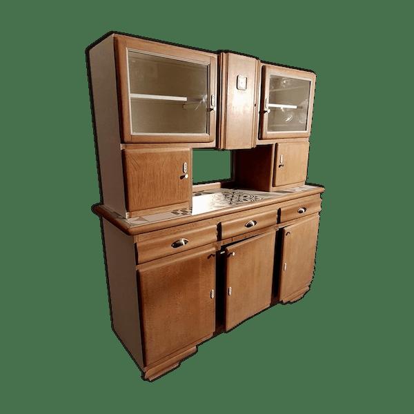 buffet cuisine vintage mado 1950 relook marque malora bois mat riau bois couleur. Black Bedroom Furniture Sets. Home Design Ideas
