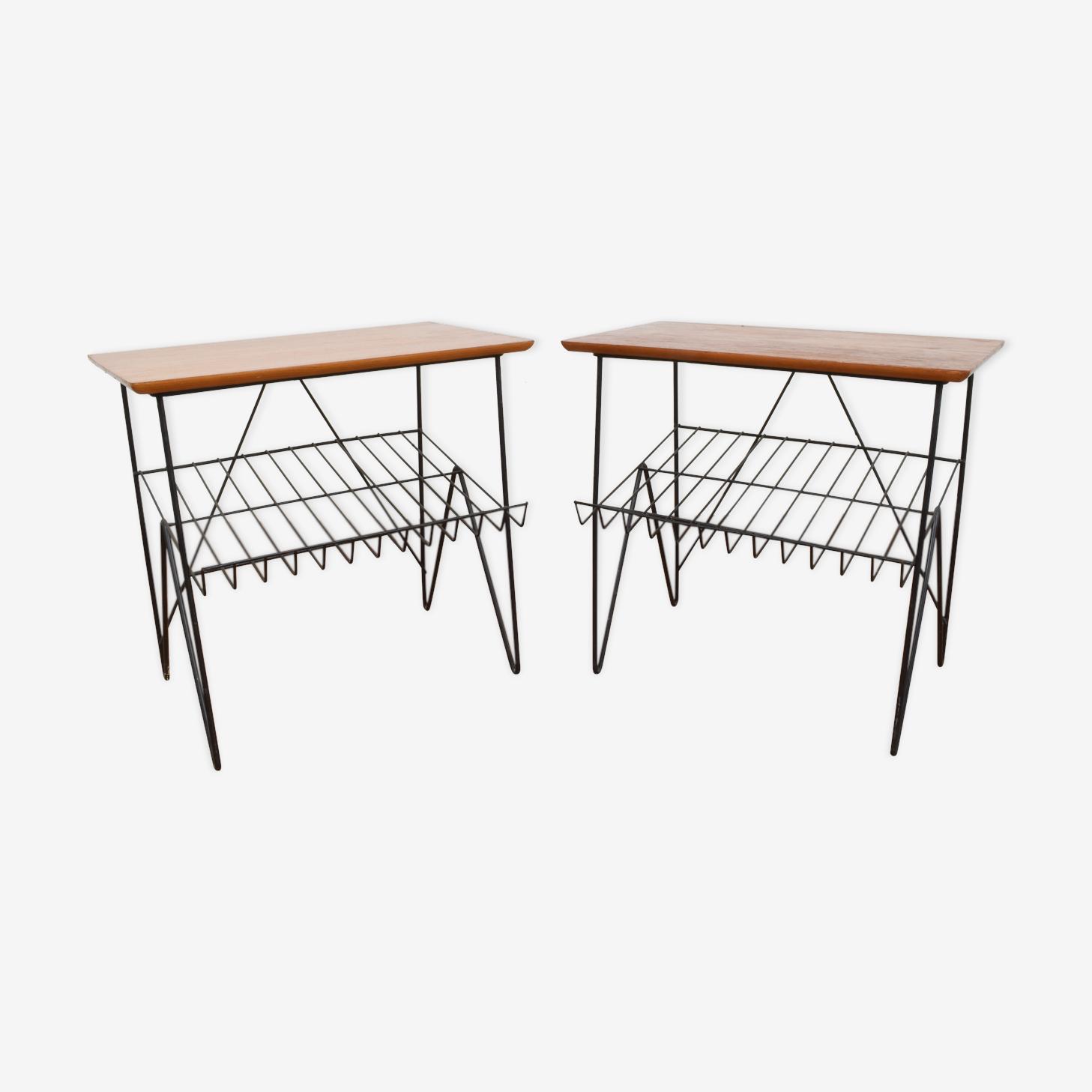 Tables avec porte-revues années 1960