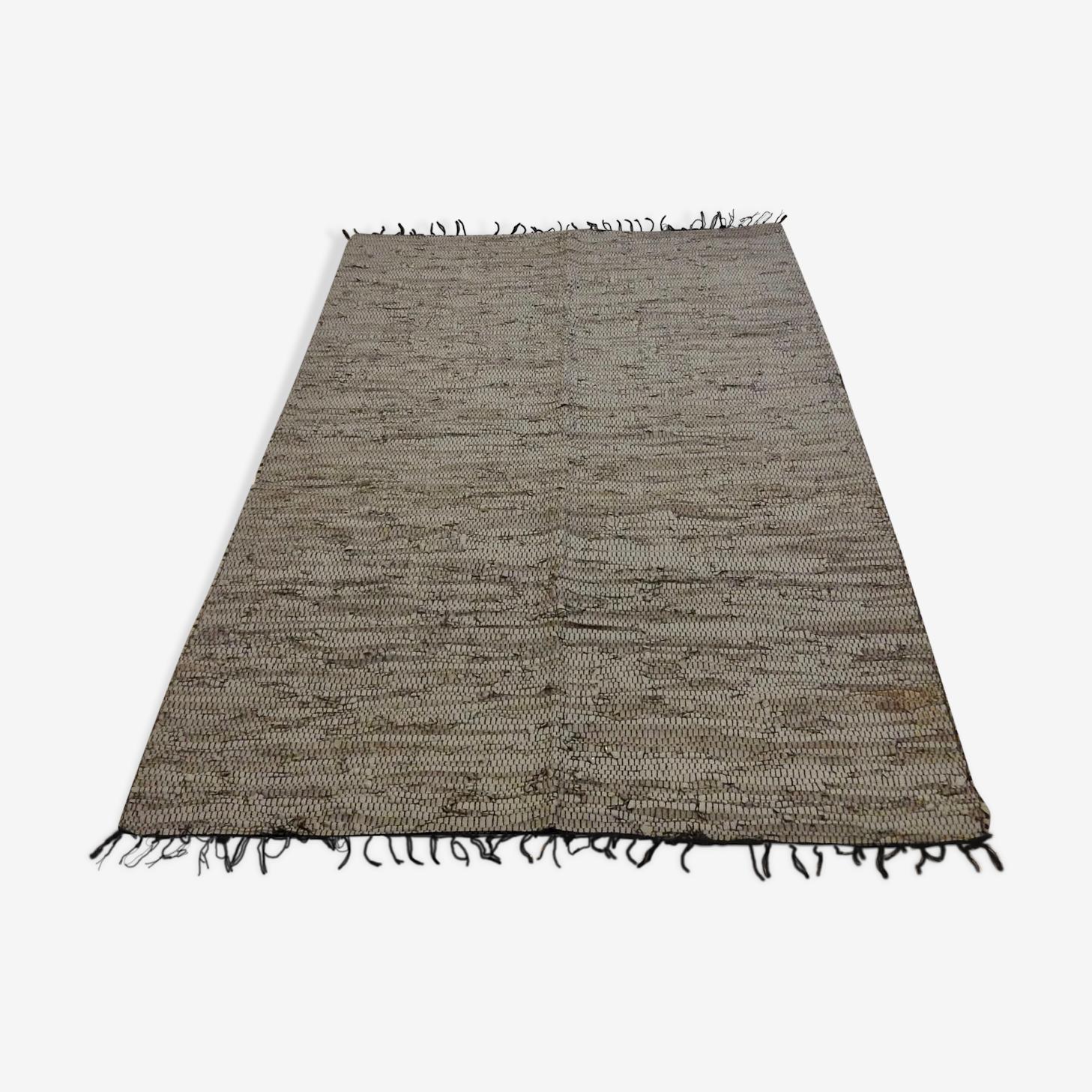 Tapis indien en cuir 120/196cm