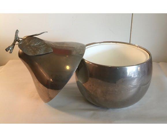 Freddotherm silver metal pear