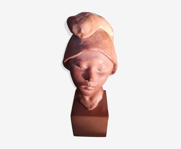 Buste en terre cuite le jeune Napolitain vers 1930
