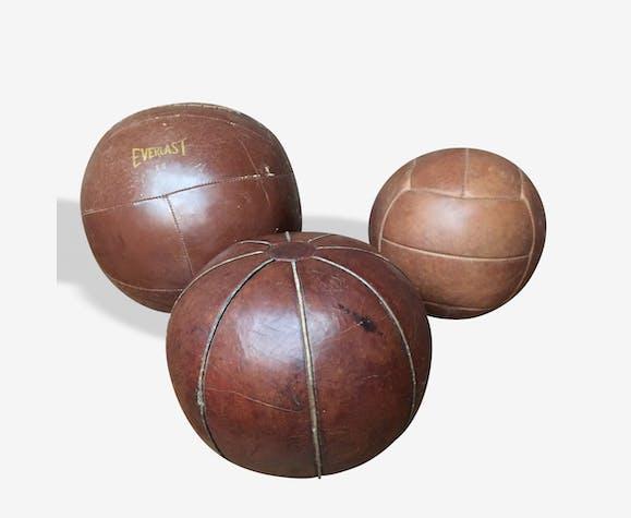 Ballon cuir médecine ball