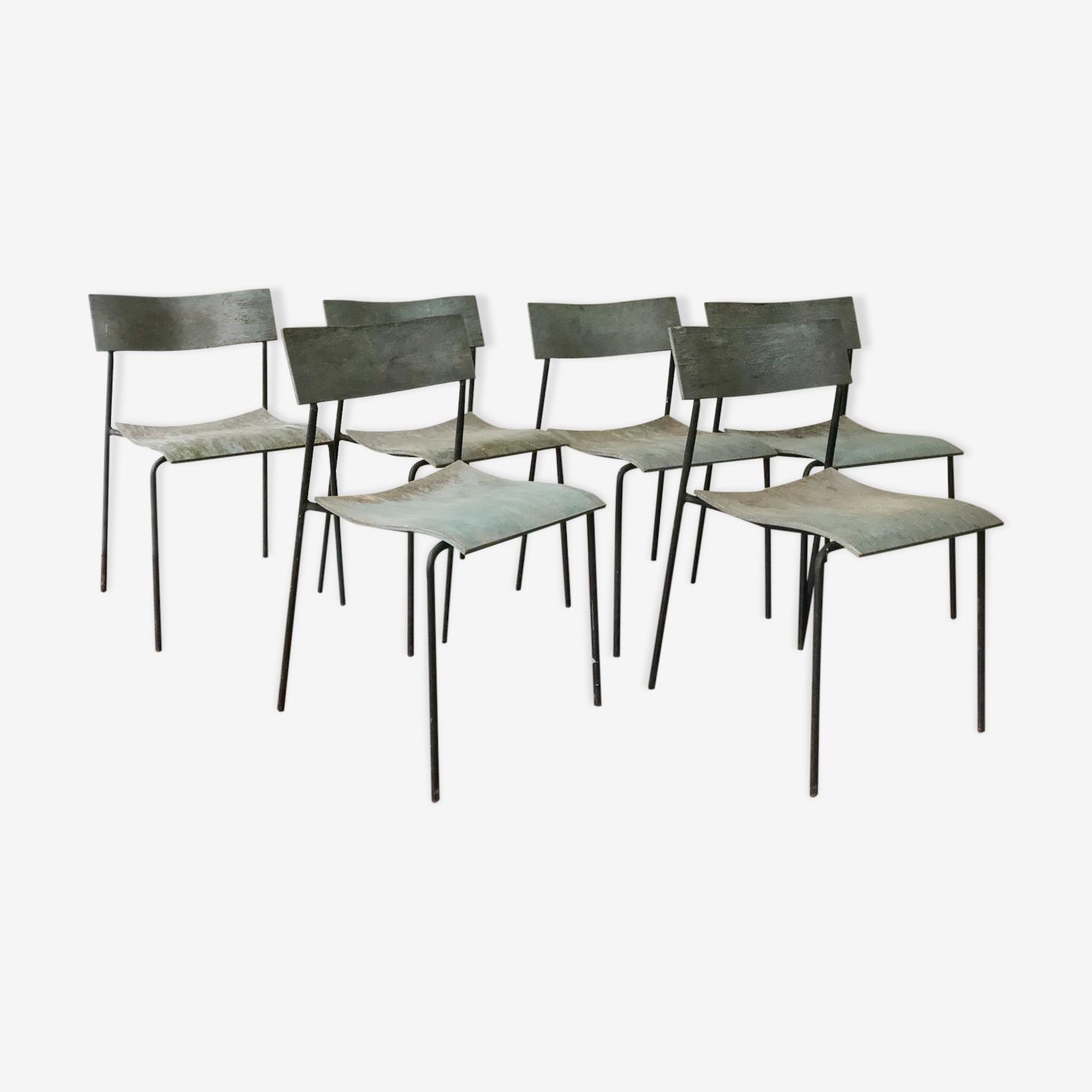 Série de 6 chaises organique par le duo Foersom & Hiort Lorenzon