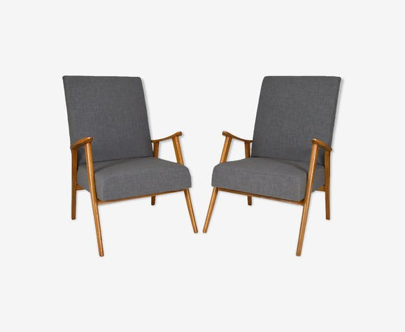Paire de fauteuils scandinaves, mid-century