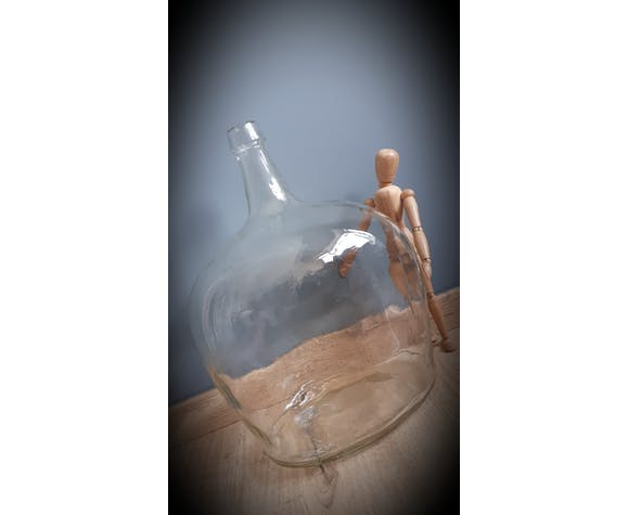 Dame Jeanne 10L forme ovale transparente