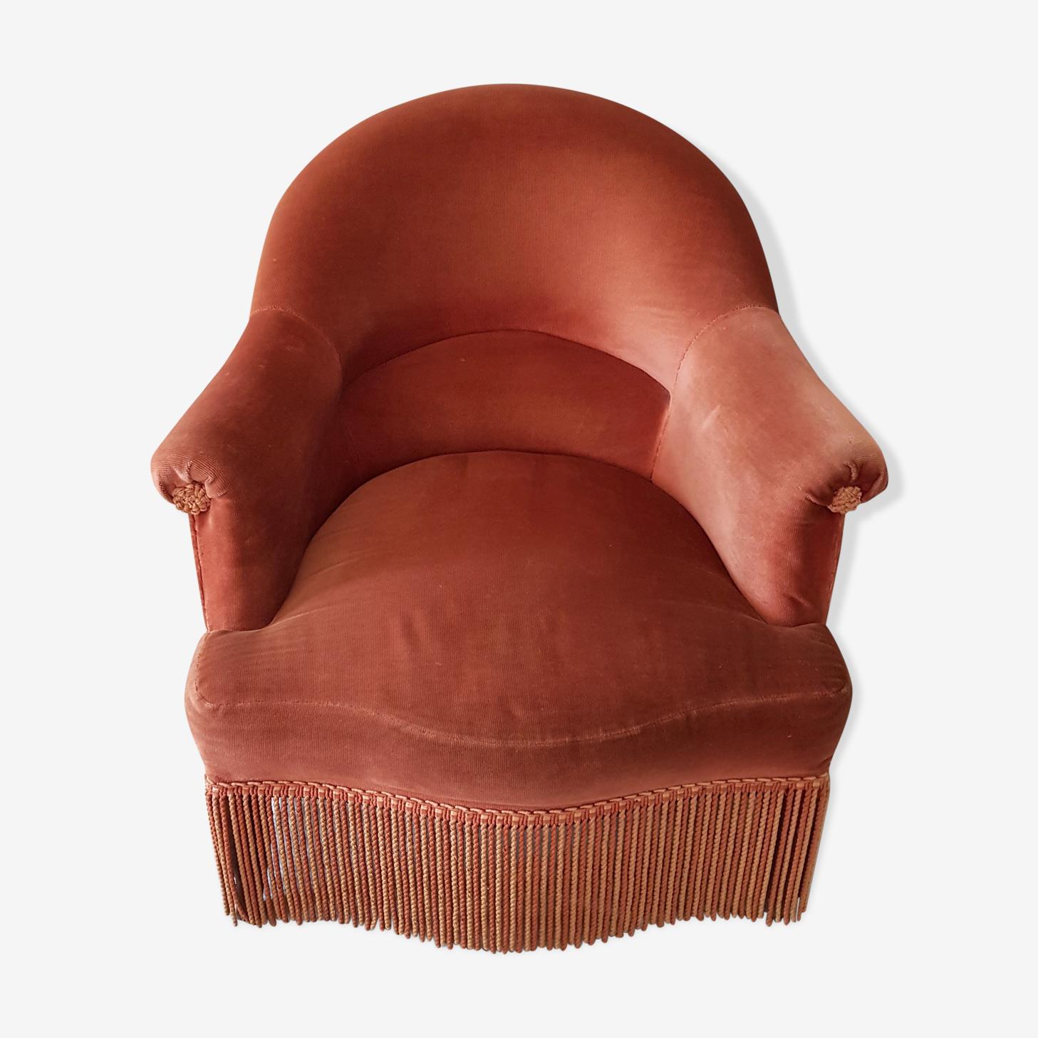 Toad in Velvet Chair