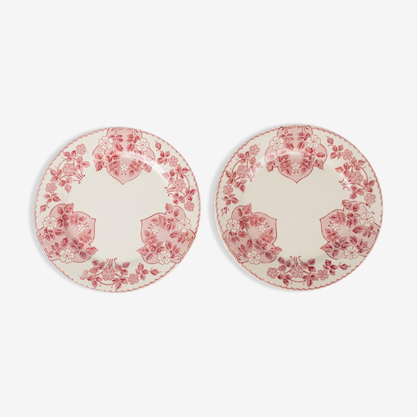 Lot de 2 assiettes plates Sarreguemines U & Cie, décor Biarritz
