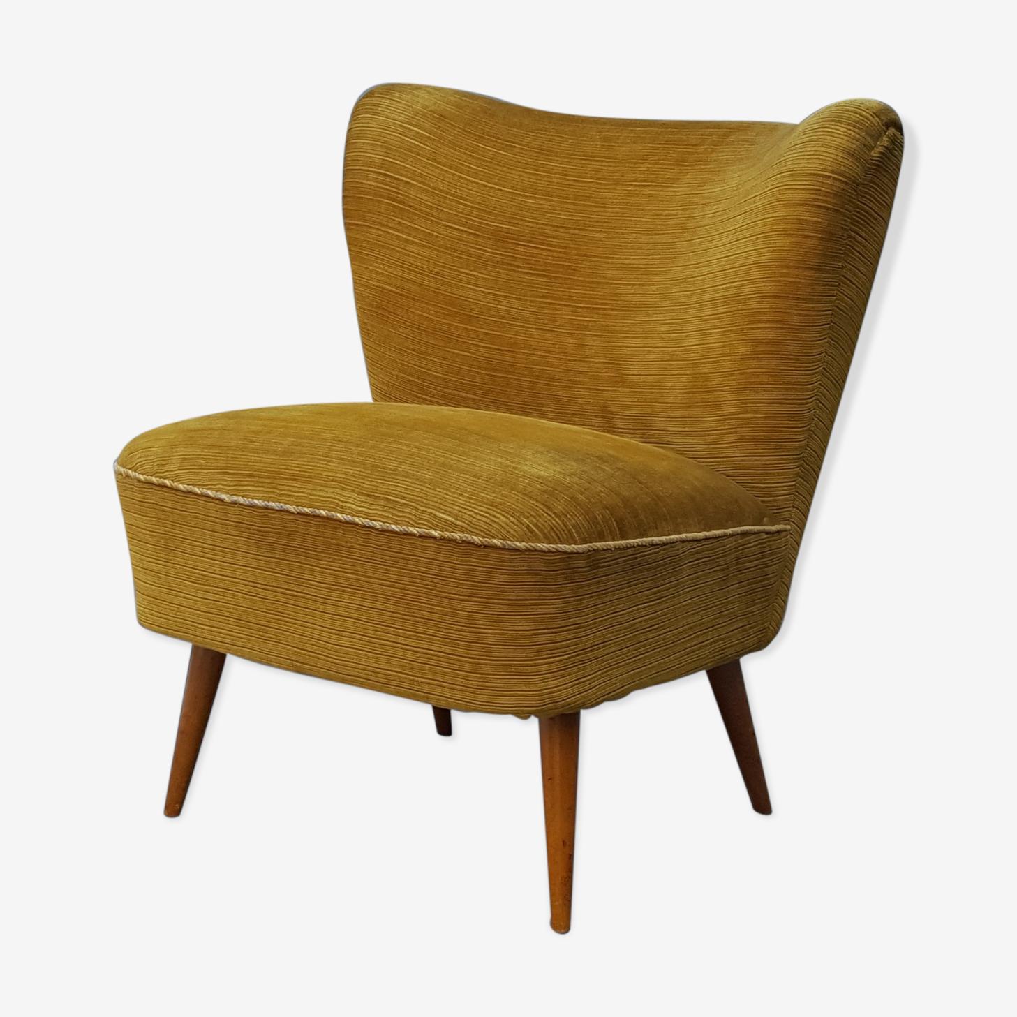 Cocktail armchair velvet