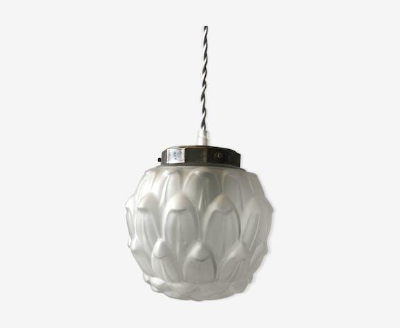 PRODUIT BHV - Suspension globe en verre Art Déco 1930