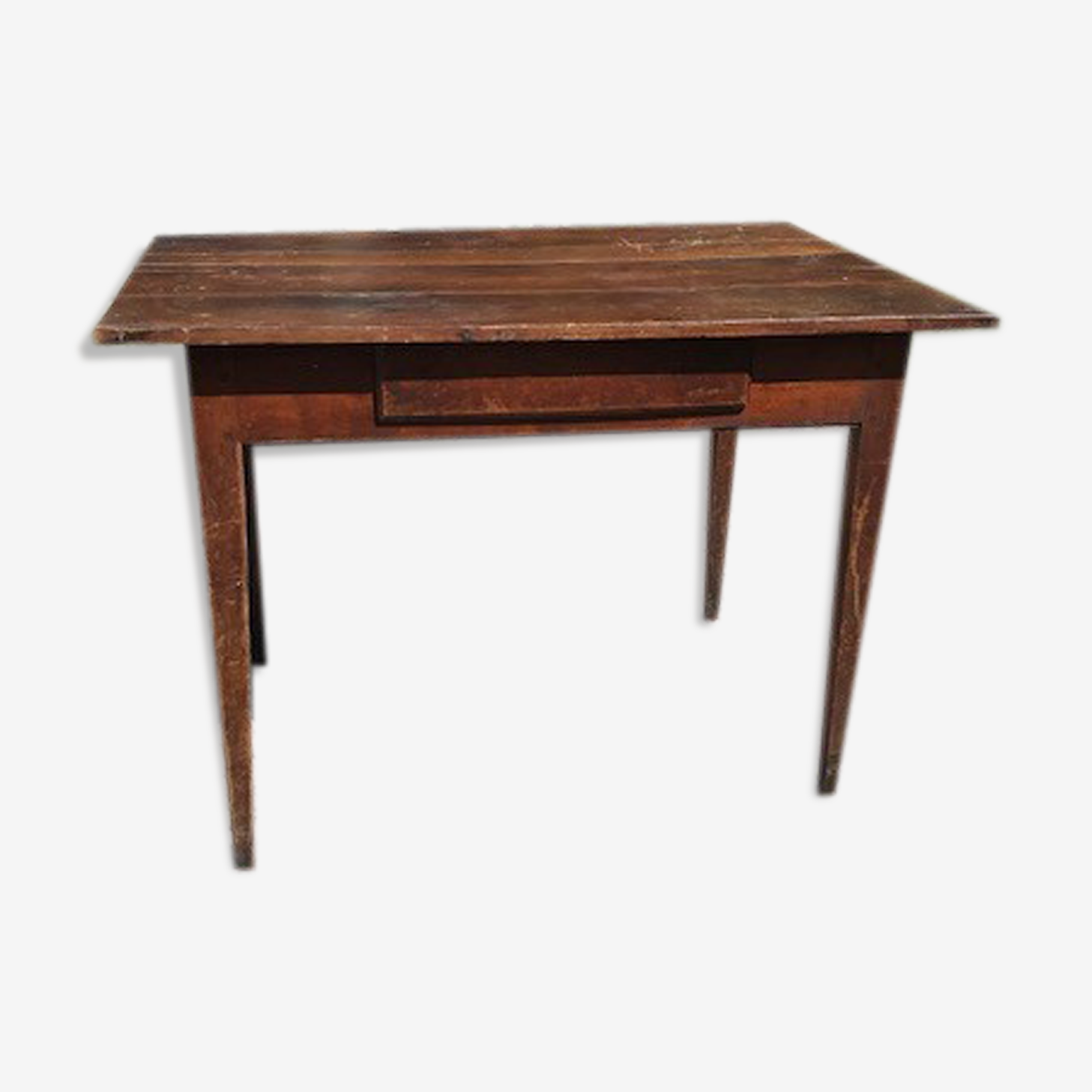 Table de ferme Ancienne avec tiroir 4 pers