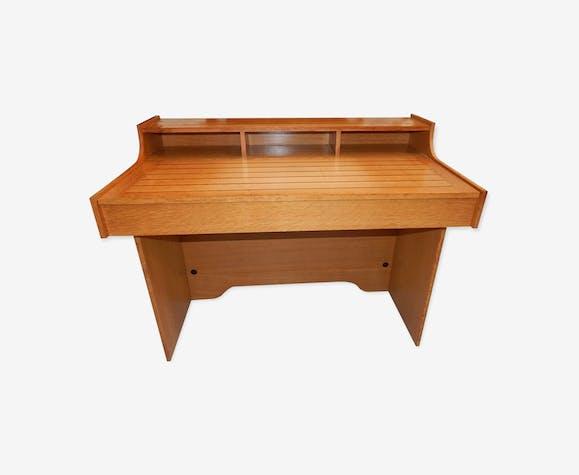 Bureau design gautier année 80 90 bois matériau marron