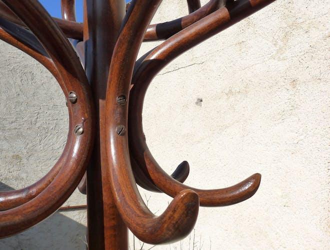 Porte-manteaux perroquet bistrot années 60