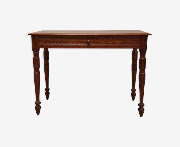 Bureau ancien en pitchpin bois mat riau bois couleur vintage oaxijfn - Bureau bois ancien ...
