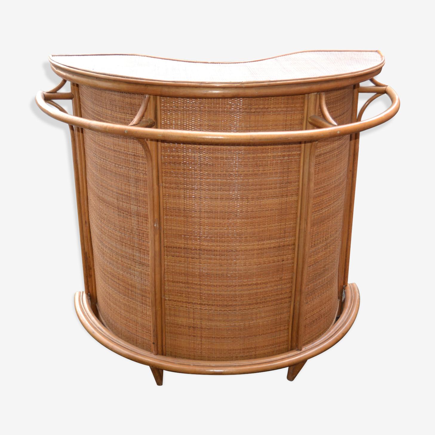 Bar vintage en rotin et bambou des année 50-60 's