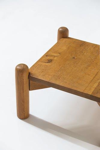 Table basse décorative en chêne des années 1960