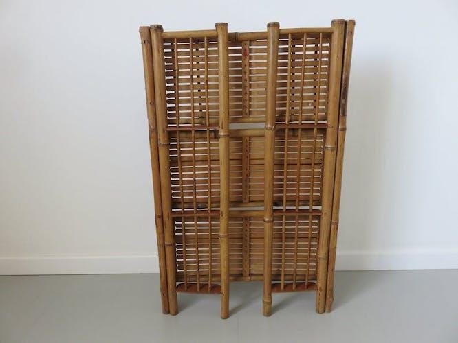 Etagère pliante en bambou années 60/70