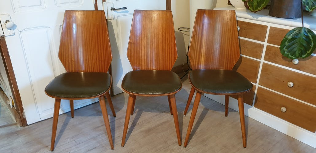 Suite of six Baumann chairs 1950s
